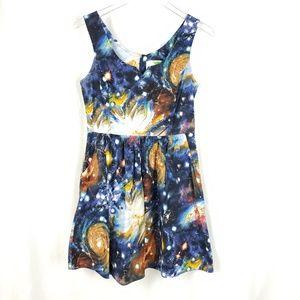 Modcloth Fervour Galaxy Dress